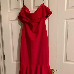 Lulus Ruffled Strapless Dress